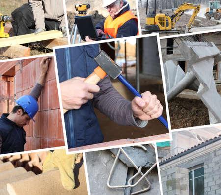 cantieri edili: Collage che mostra i lavori di costruzione