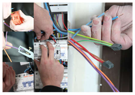 fuse box: Electrics themed collage