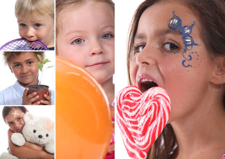 girl licking: Children portraits