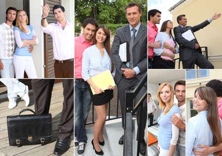 introducing: Real estate visit Stock Photo