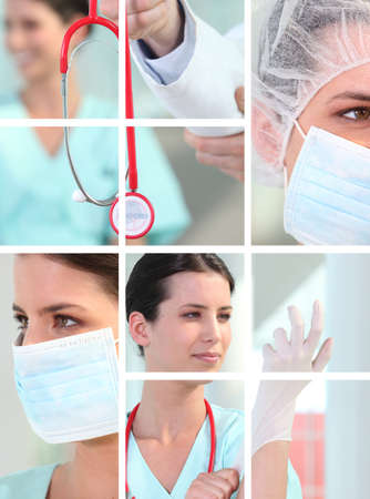 Medical montage photo