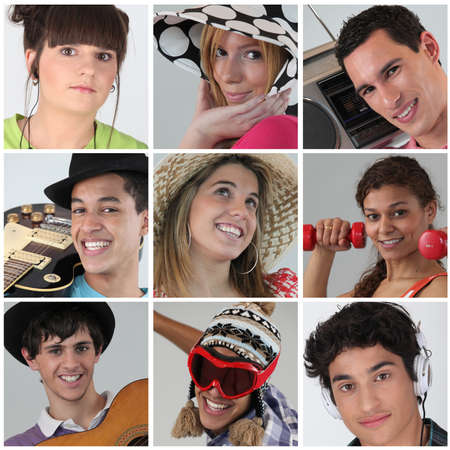 A collage of adolescents photo