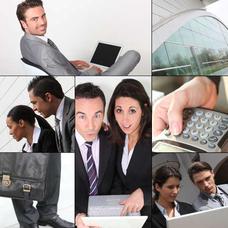 Montage of business images photo