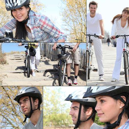 Couple on bike ride Stock Photo - 14023447