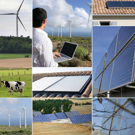 Renewable energies themed collage Stock Photo - 14023518
