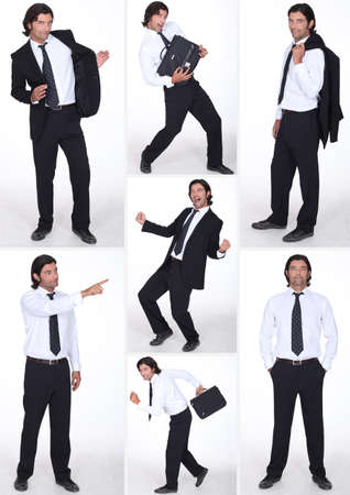 swagger: miscellaneous full-length shots of businessman in various postures