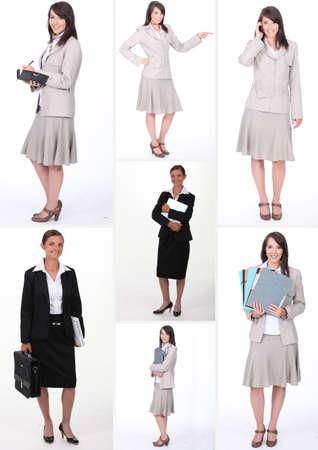 book jacket: Collage of businesswomen at work