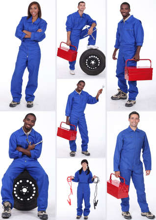 Car mechanicians Stock Photo - 14023208