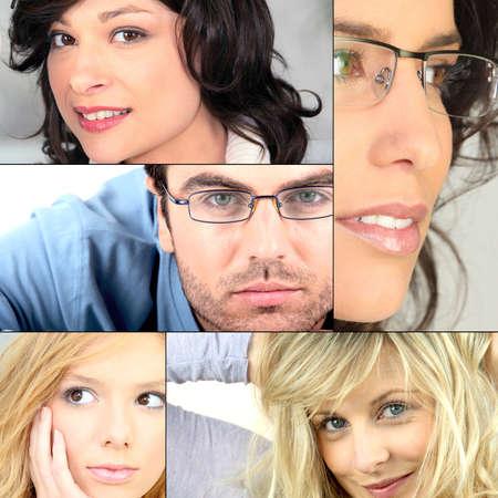 Male and female portraits photo