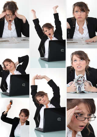 Collage of woman Stock Photo - 14023211