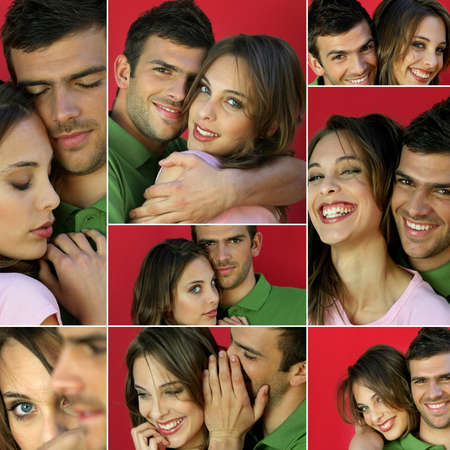 Montage of a young couple in love photo