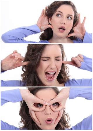 big ear: woman Stock Photo