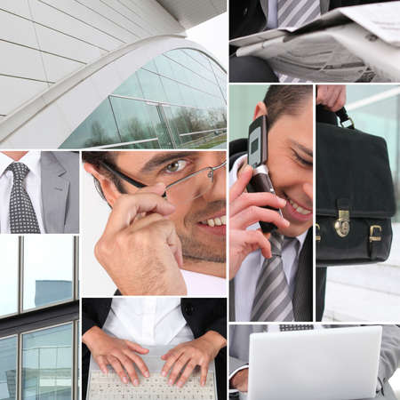 Business collage Stock Photo - 14023106