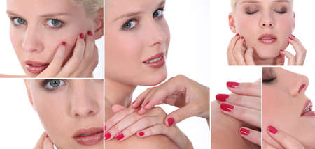 Montage of a woman with a manicure photo