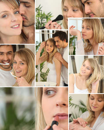 Collage of a beautiful woman Stock Photo - 14023489