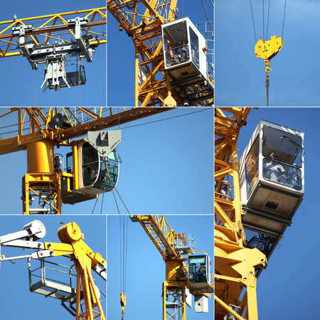 Collage of a crane Stock Photo - 14023268