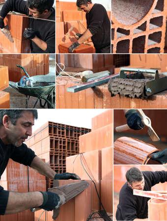 bricklayer: Collage de un alba�il