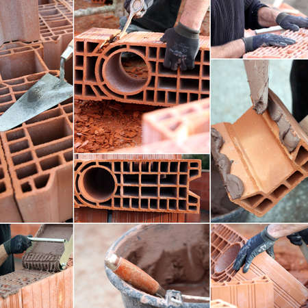 Bricklaying montage Stock Photo - 14100749