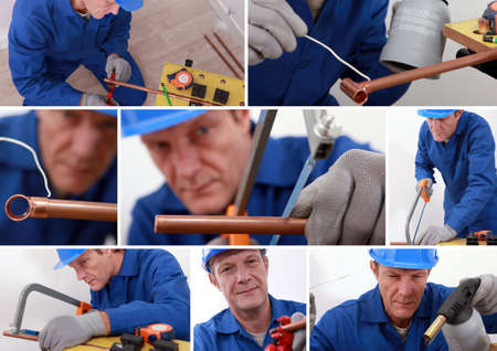 Collage of a tradesman photo