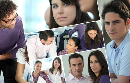 Montage of colleagues Stock Photo - 14100754