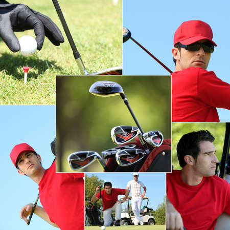 country club: Golf themed montage Stock Photo