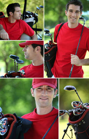 Collage of a golfer photo