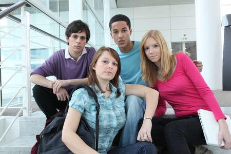 teens at school Stock Photo - 14101376