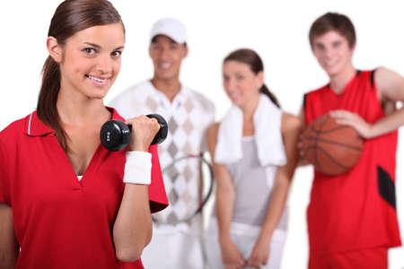 amateur: Un grupo de atletas