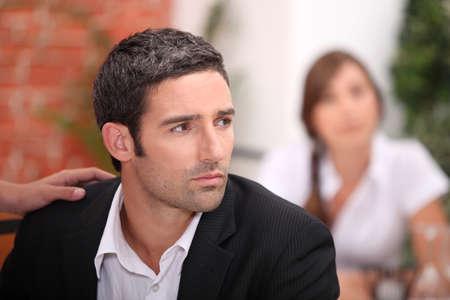 disconsolate: Worried man Stock Photo