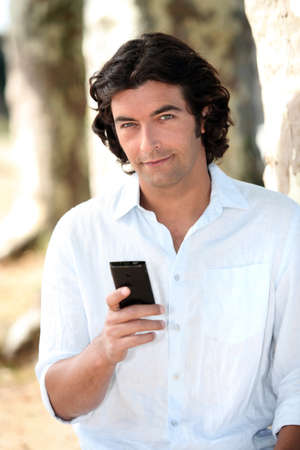 Man with mobile phone Stock Photo - 14101221