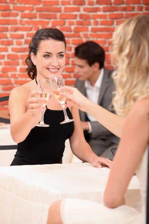 Women clinking glasses Stock Photo - 14101339