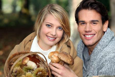 We went mushroom picking photo