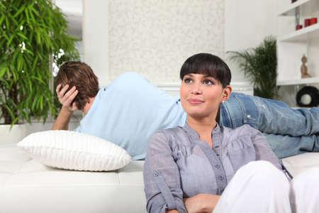 assume: Couple having a disagreement