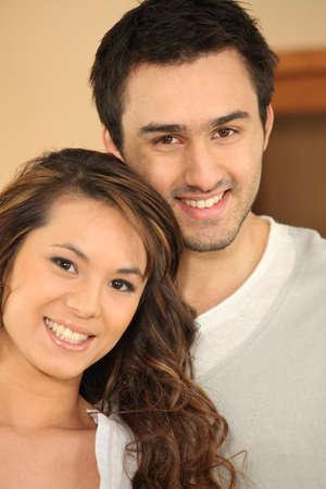 connectedness: Portrait of smiling couple