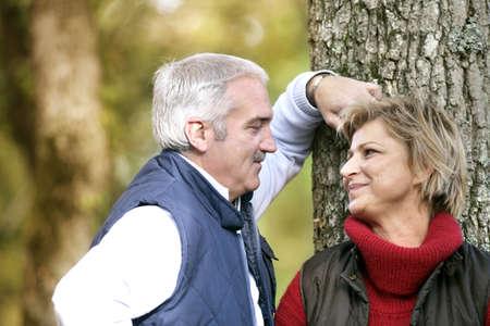 courtship: couple enjoying a romantic walk