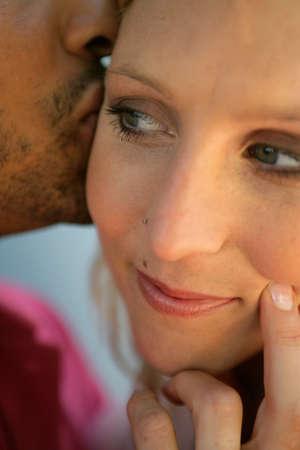 Close-up shot of couple kissing Stock Photo - 14102225