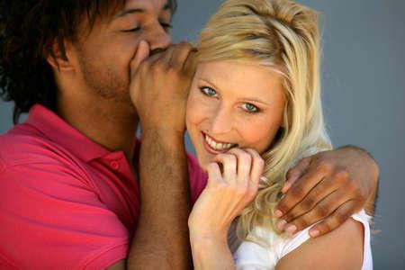bruit: Couple sharing a secret