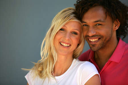 interracial relationships: Portrait of an interracial couple