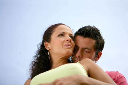 Couple on romantic beach photo