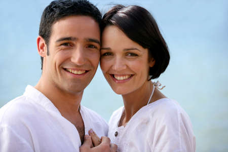 Closeup of a couple in love photo