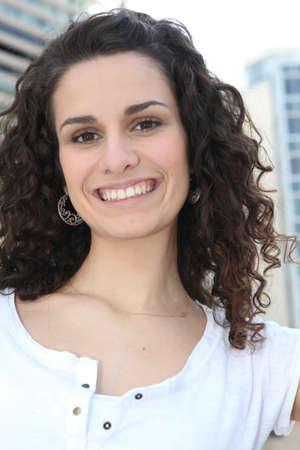 simple girl: Portrait of brunette