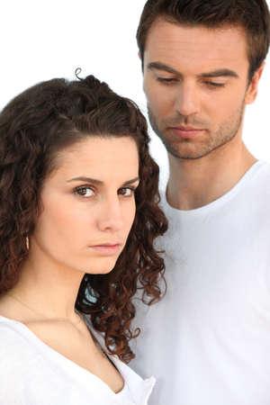 Sad looking couple Stock Photo - 14102574