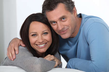 male age 40's: Portrait of a midde-aged couple Stock Photo
