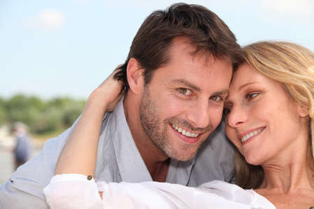 accomplices: close-up of a couple Stock Photo