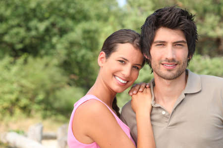 Portrait of a couple enjoying a day outdoors together Stock Photo - 14103744