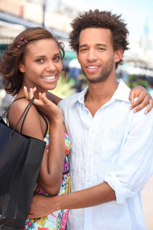 Couple shopping together photo