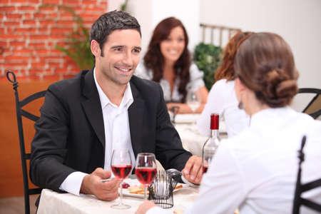 Couple in restaurant photo