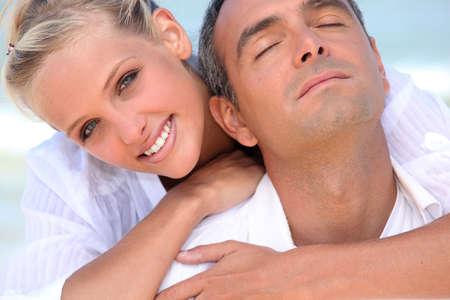tilt: Embracing couple