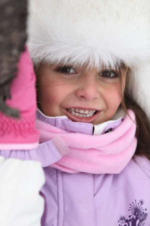 Young girl prepared for the cold Stock Photo - 14105260