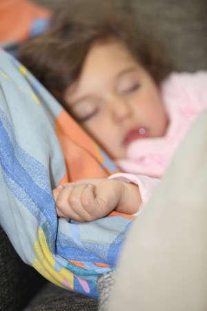 slumbering: Little girl fast asleep